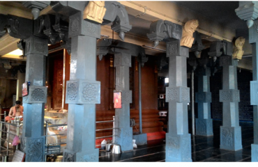 Side view Ragavendraswamy temple