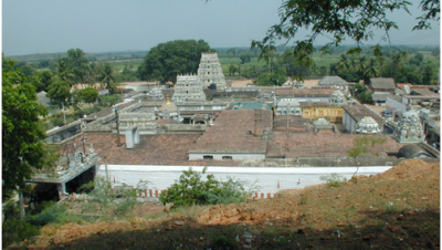 Birds eye view Devanatha swamy temple