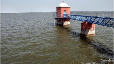 Monitoring tower inveeranam Lake