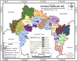 District Map in kannada with hobli titles