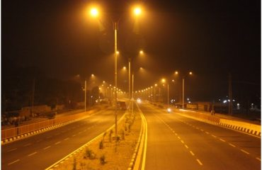 Highway night view