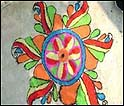 Artist design a Muruja on Floor