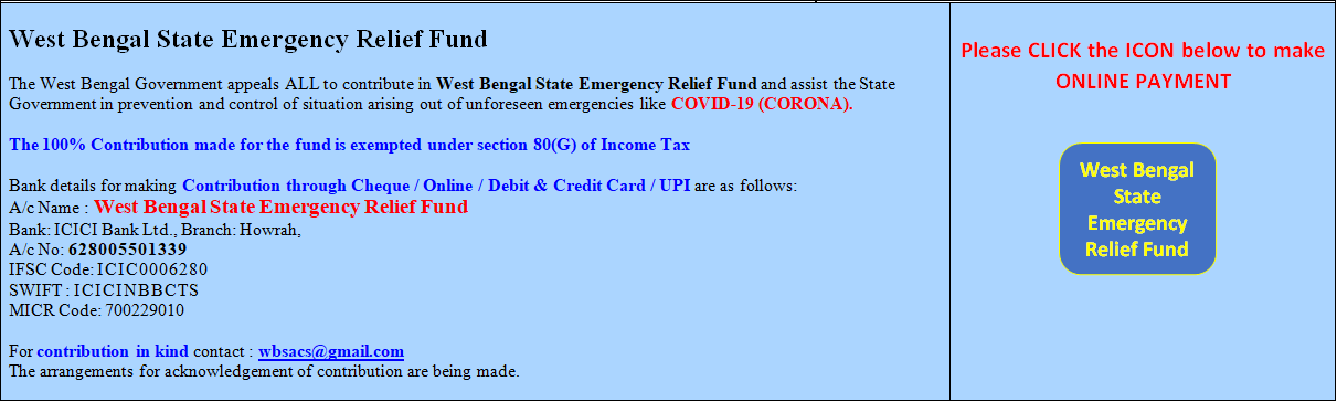 Click on the image link to get the information related to Relief Fund