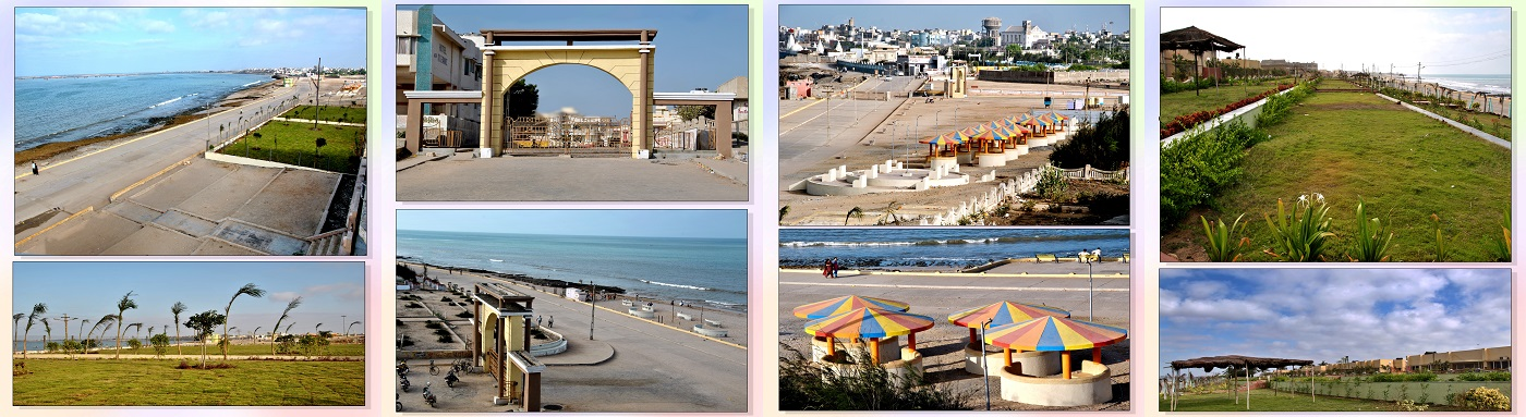 Porbandar Chaupati different location and views