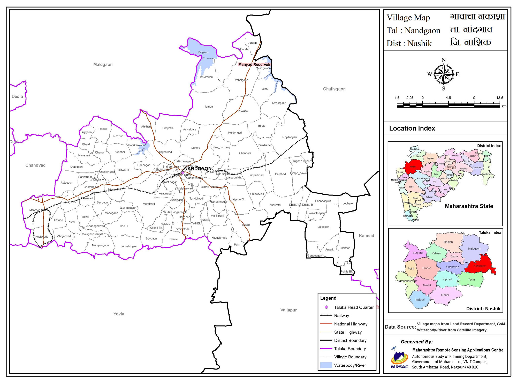 Map of Nandgaon