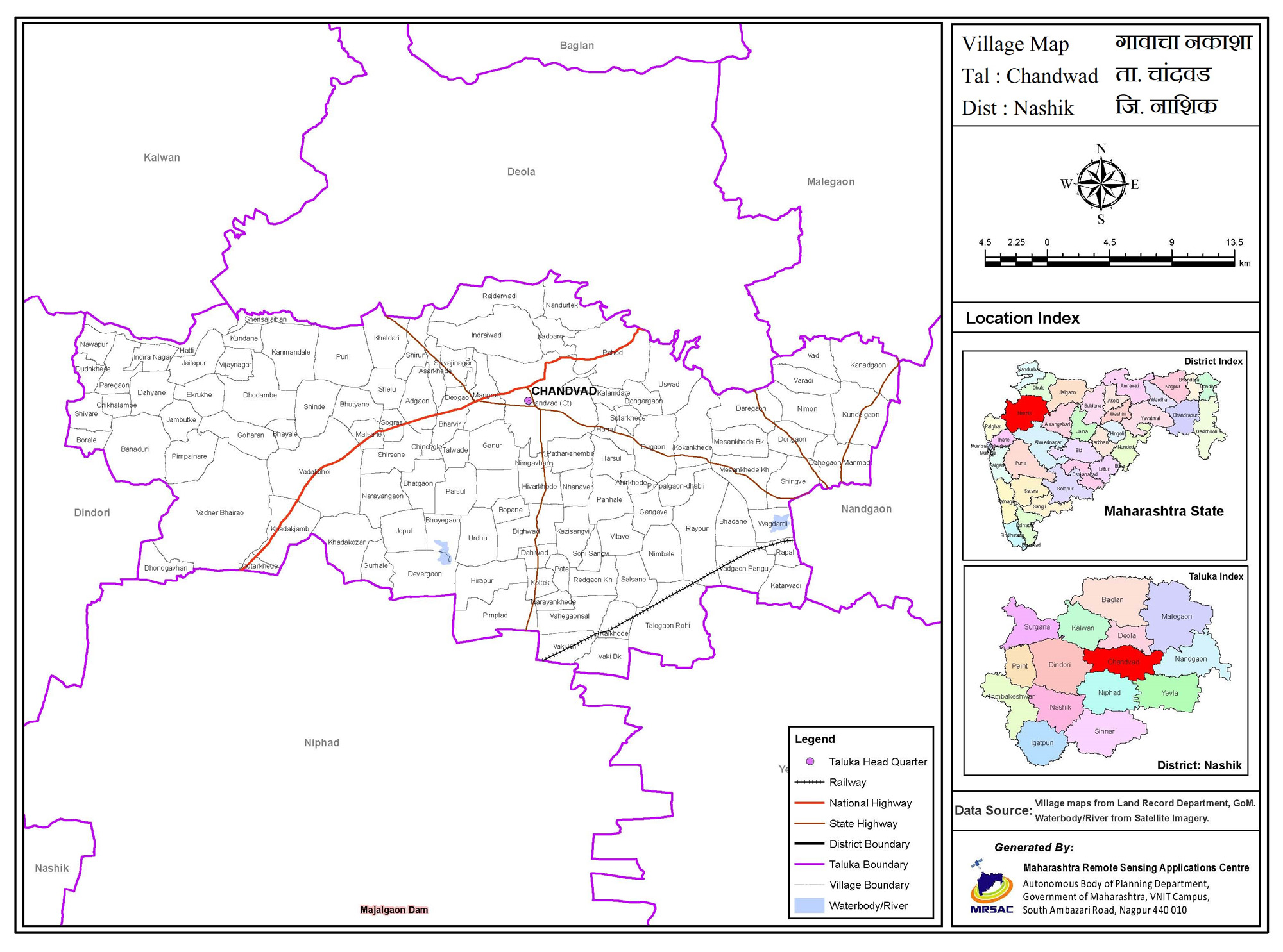 Map of Chandwad