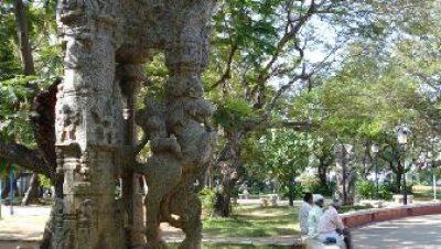 Pillar in Bharathi Park, Pondy