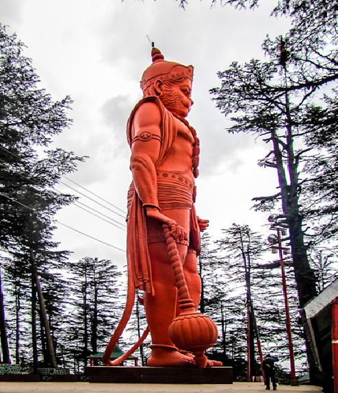 Jakhu Temple Lord Hanuman's 108 ft Idol, Shimla