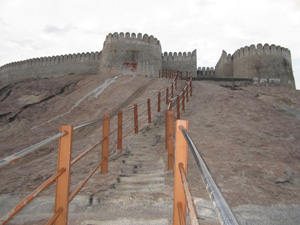 Namakkal Fort Staircase .
