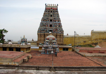 Arthanareeswarar Temple - top view .