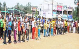 Archery Competition taking place in Kolli Hills