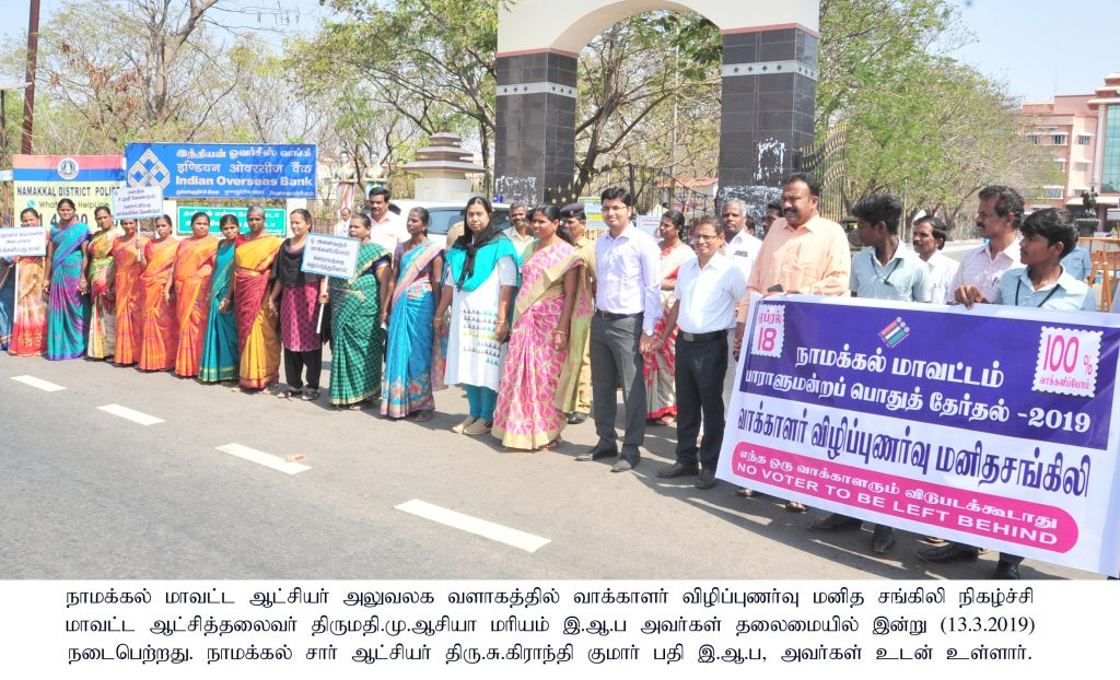 Election Human Chain Awareness Program Collector Press News .