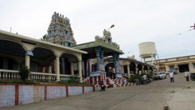 Arthanareeswarar Temple - Inside .