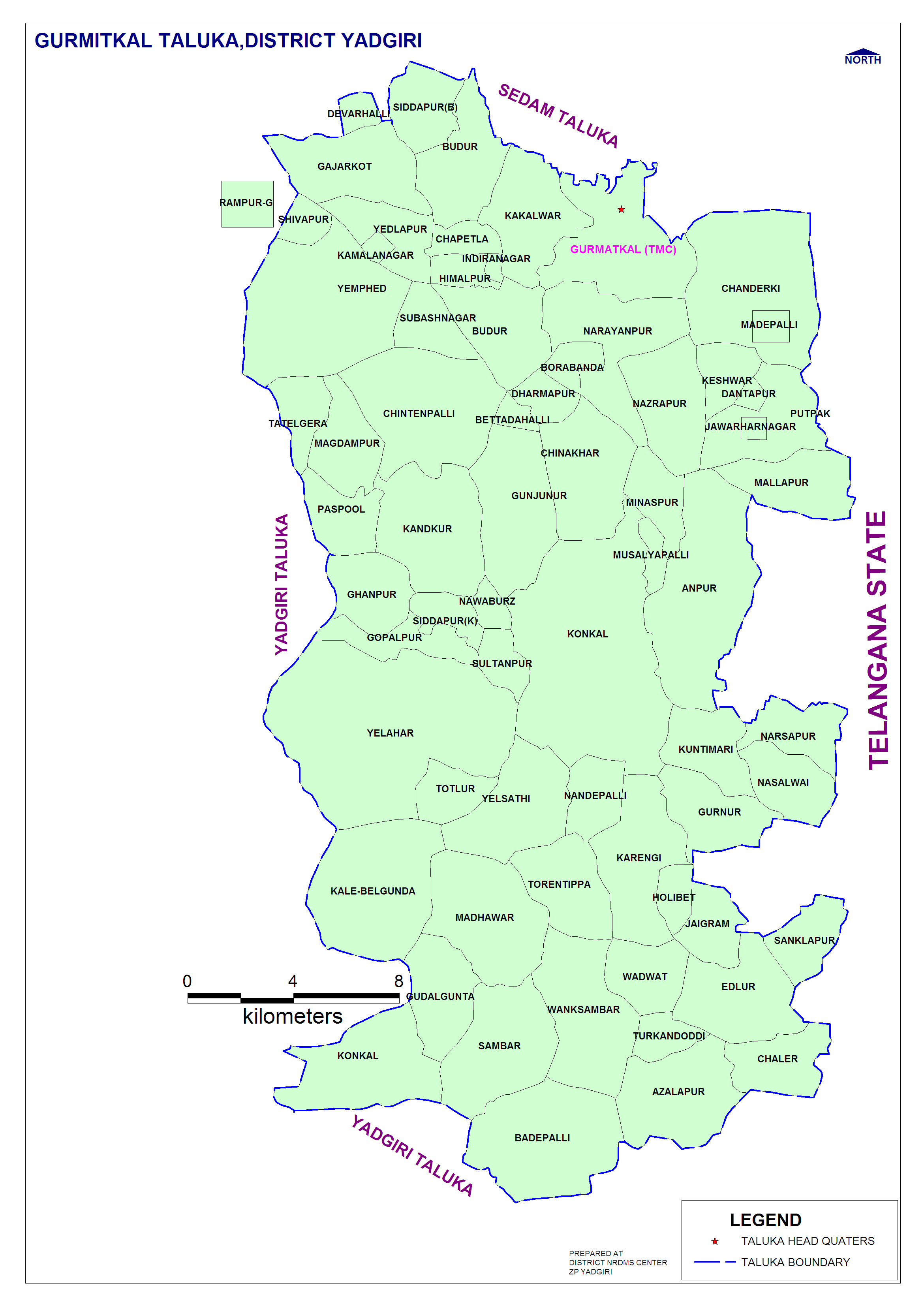 Map of District | District Yadgiri, Government of Karnataka