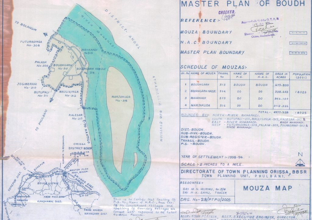 Master plan of Boudh Mouza Map