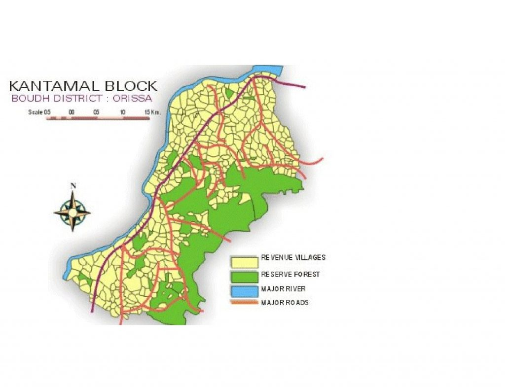 Map of Kantamal Block