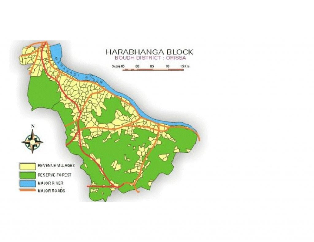 Map of Harabhanga Block