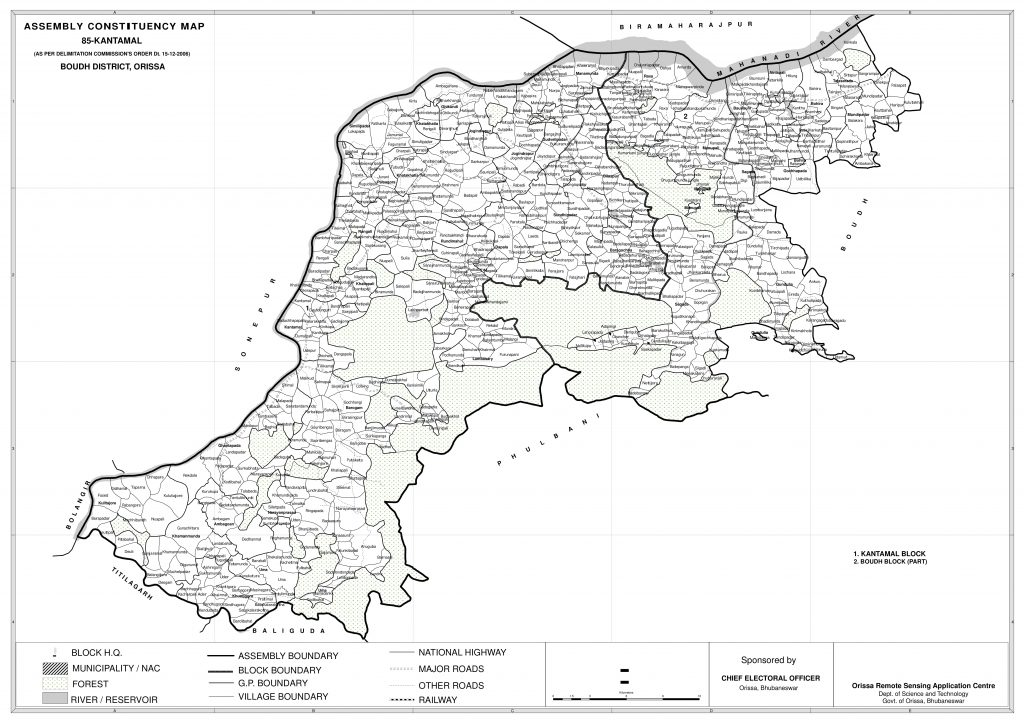 Assembly constituency Map of Kantamal