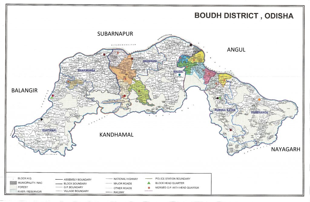Map of District | Boudh District ,Government of Odisha | India District Map on