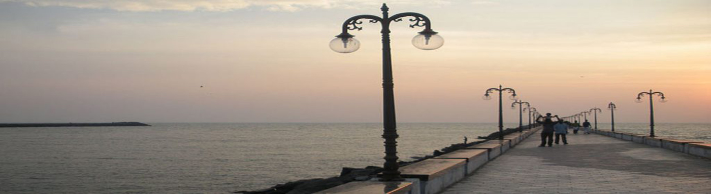 Beypore Beach evening view