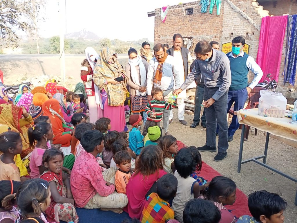 Sweets distribution