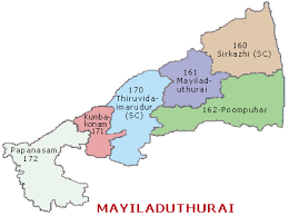 Mayiladuturai Constituency map
