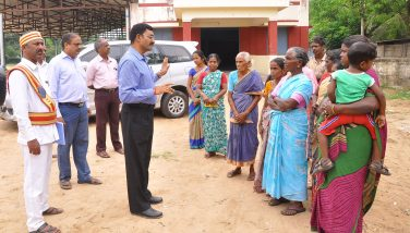 Collector visit gaja cyclone center