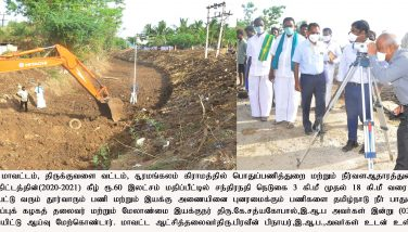 Monitoring Officer's field inspection on Kudimaramathu works – 03.06.2020
