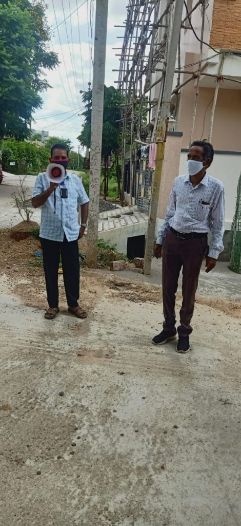 Covid-19 Prevention Measures Kamareddy District Mass Media Department.
