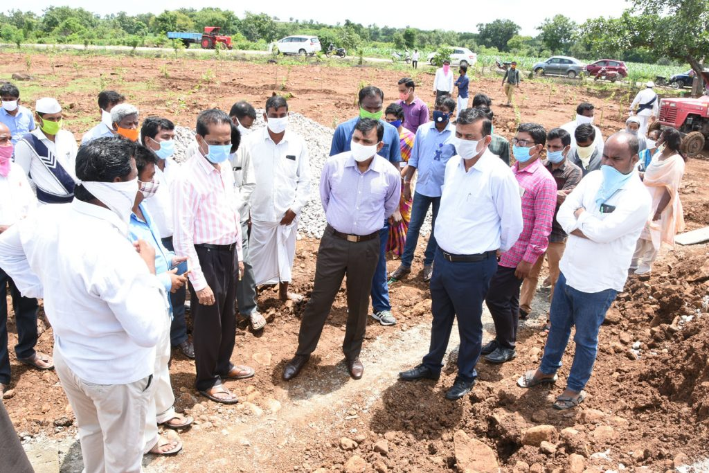 Rythu Vedhikalu Construction Inspection in Tadwai and Gandhari Mandals