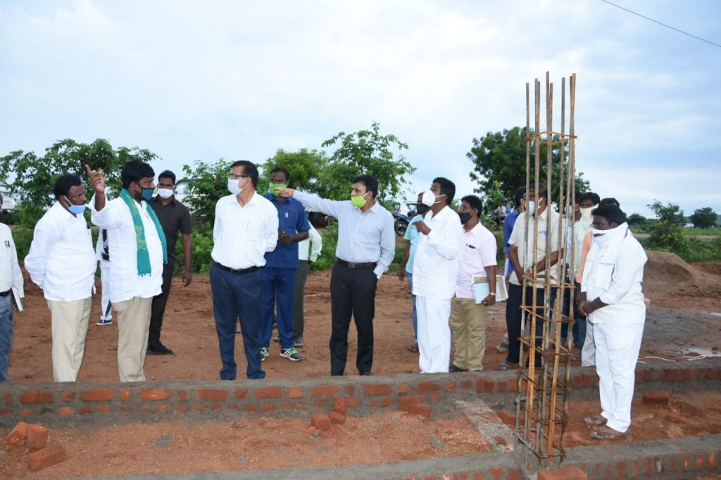 The district collector directed the Mandal authorities to complete the work of Palle Pragathi karyakramala panulu