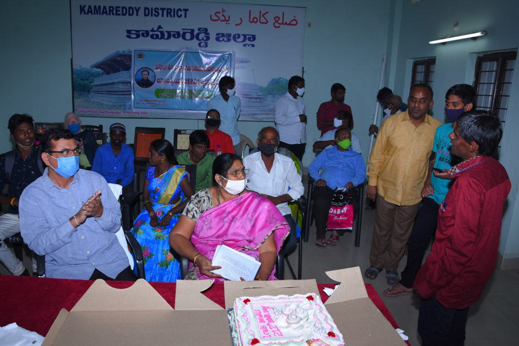 Louis Braille Birth Day Celebrations at Collectorate Kamareddy by District Welfare Department.