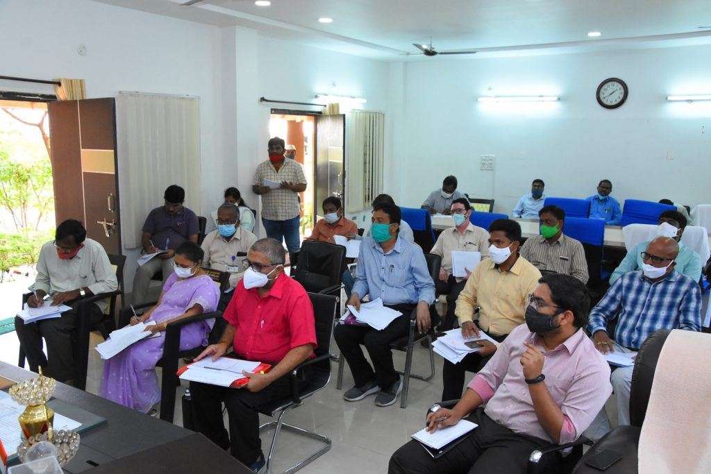 District Collector Dr. A.Sharatha, IAS, Conducted a Review Meeting