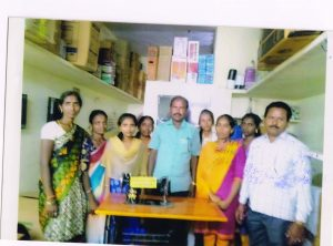 Under the Beneficiary Self-Employment Scheme, 25 S.C. beneficiaries were trained in tailoring and distributed sewing machines