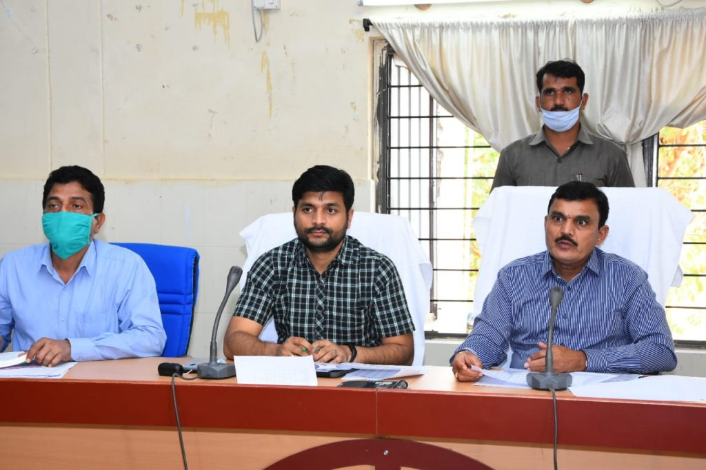 District Collector conducted a review with the authorities on the collection of loans at the Janahitha Bhavan in the Collectorate..