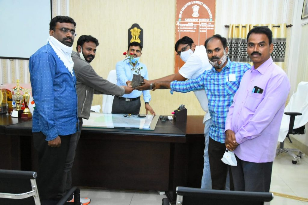 Kamareddy Government Degree College Principal M. Chandrakanth honored District Collector