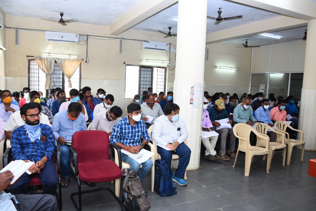 Pallepragathi Programme Review Meeting at Janahitha Bhavan Conducted