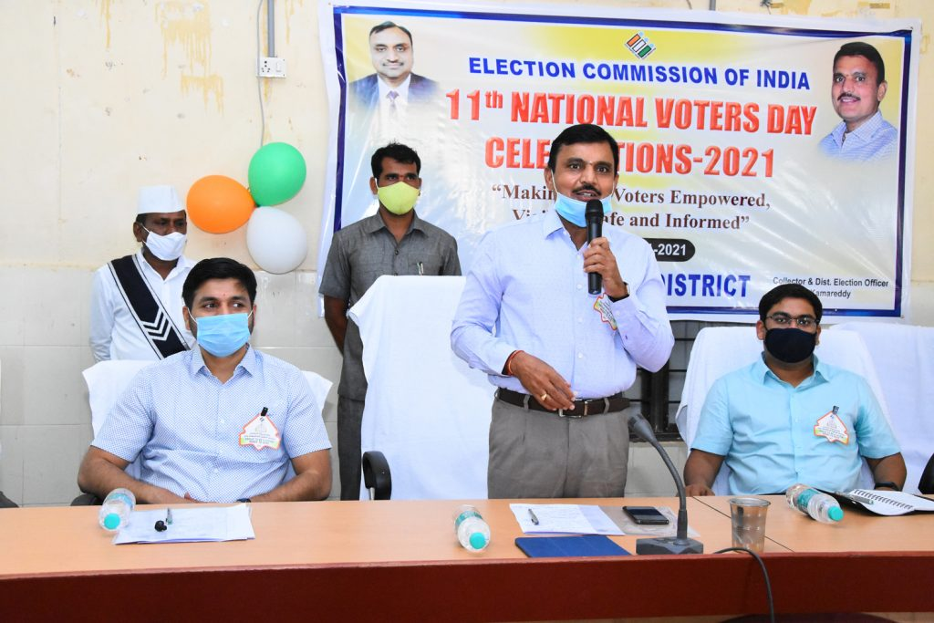 11th National Voters Day Celebrations at Janahitha Bhavan.