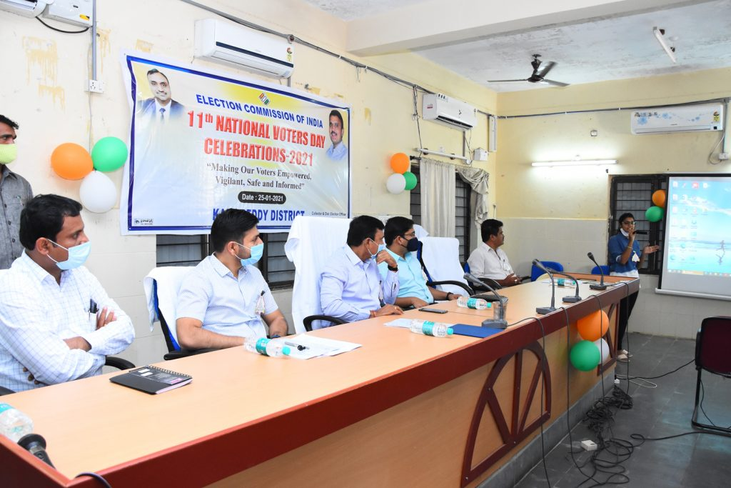 11th National Voters Day Celebrations at Janahitha Bhavan..