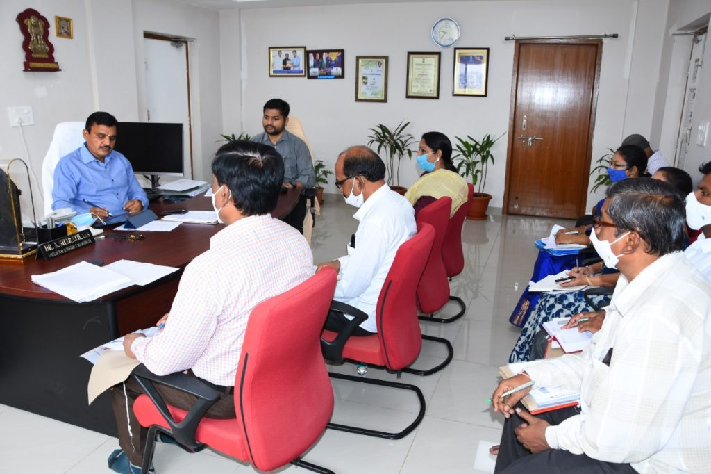 The District Collector Dr. A.Sharath, IAS spoke in a teleconference with Chief Secretary of Telangana state Somesh Kumar