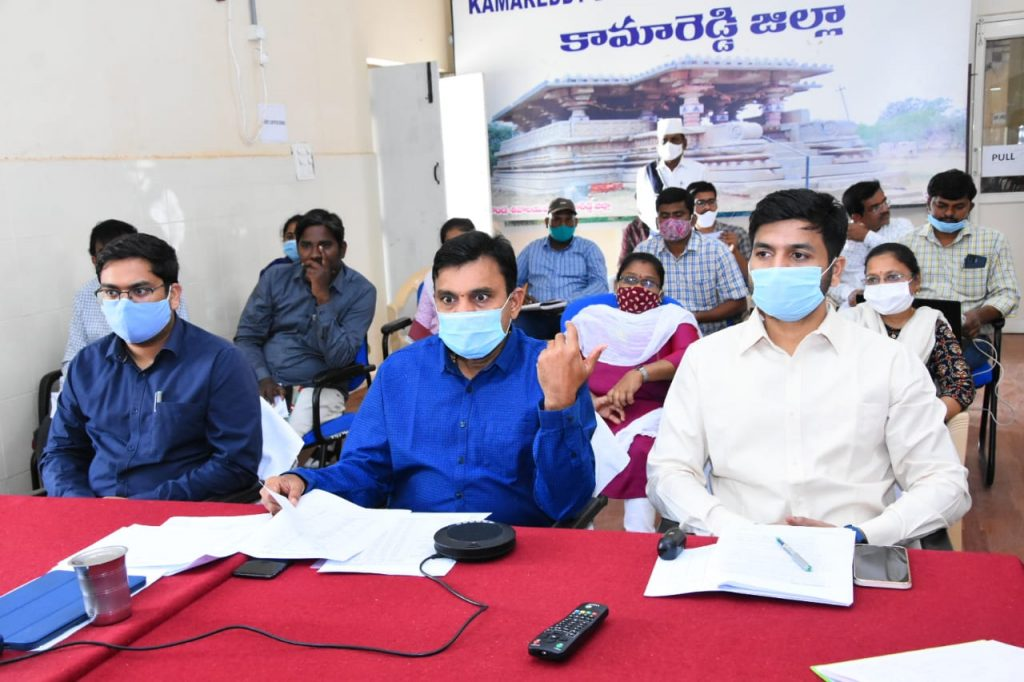 District Collector Conducted a video conference with Mandal Level Agriculture Officers