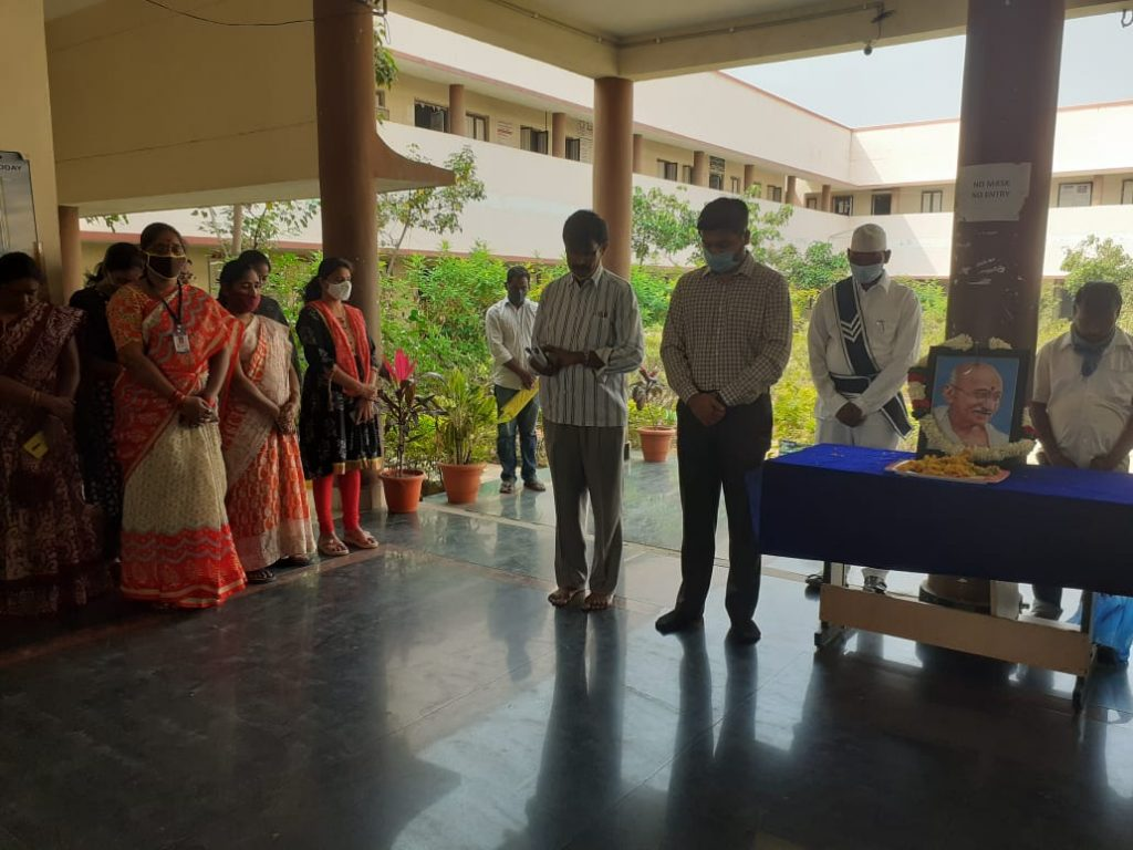 Additional Collector observed a two – minute silence on the occasion of Commemoration of the martyrs,Mahatma Gandhi's death.