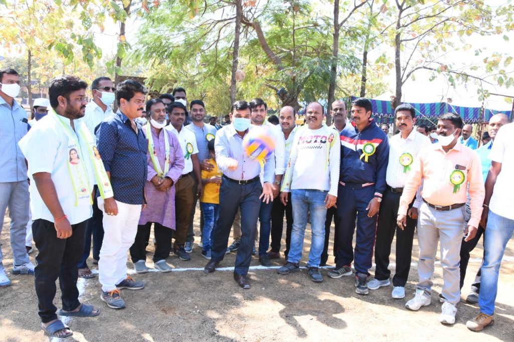 District Collector started the district level volleyball competitions at Kamareddy