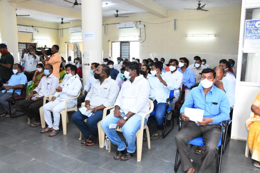 Lucky draw for new bars by the District Excise Department at Janahita Bhavan in the District Collector's Office in the prsence of District Collector
