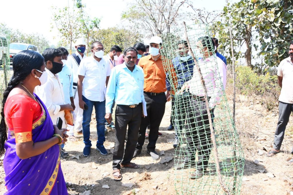The District Collector inspected the compost shed, Palle Prakruthi Vanams and Vaikunta dhamas