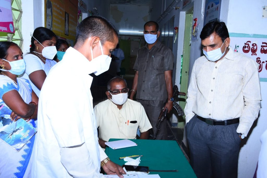 District Collector inspected the Rythu Vedhika at the Primary Health Center in Ramareddy Mandal