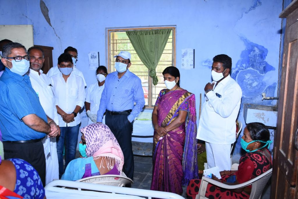District Collector Visited CHC in Gandhari Mandal