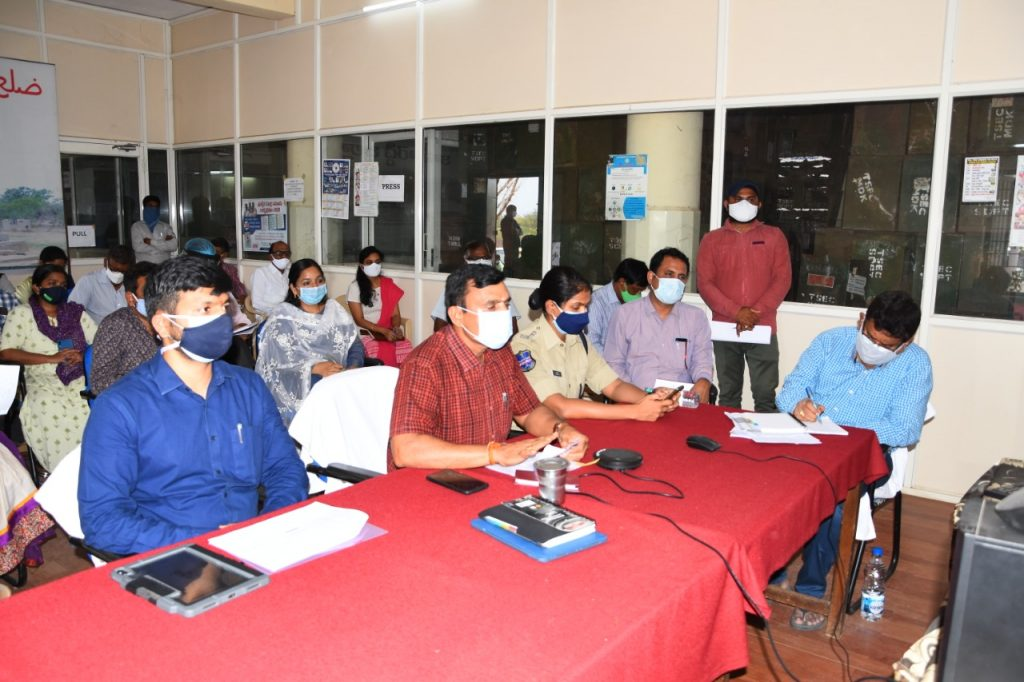 Collector Reviewed corona control measures with Mandal officials via video conference.