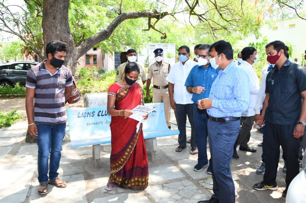 The District Collector Dr. A.Sharath, IAS visited Bikaner Primary Health Center