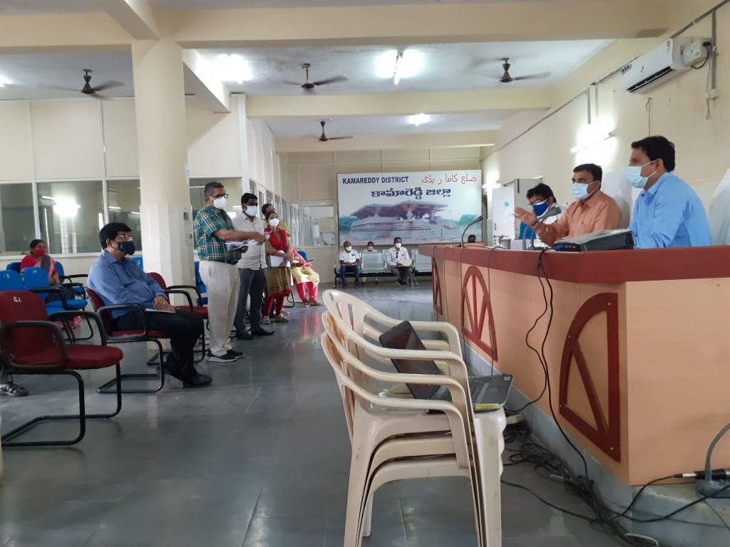 The District Collector Reviewed the corona control measures with the Kamareddy Division
